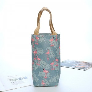 Reusable polyester RPET wine bags with custom printed logo