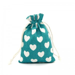 Small organic cotton canvas drawstring bag sack dust draw string cloth fabric bag with logo