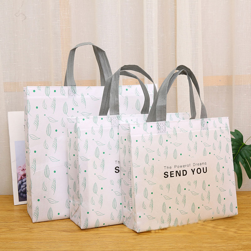 Ultrasonic biodegradable Laminated Non-woven Bags promotional shopping Custom printing Featured Image