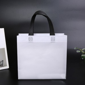 Ultrasonic biodegradable Laminated Non-woven Bags promotional shopping Custom printing