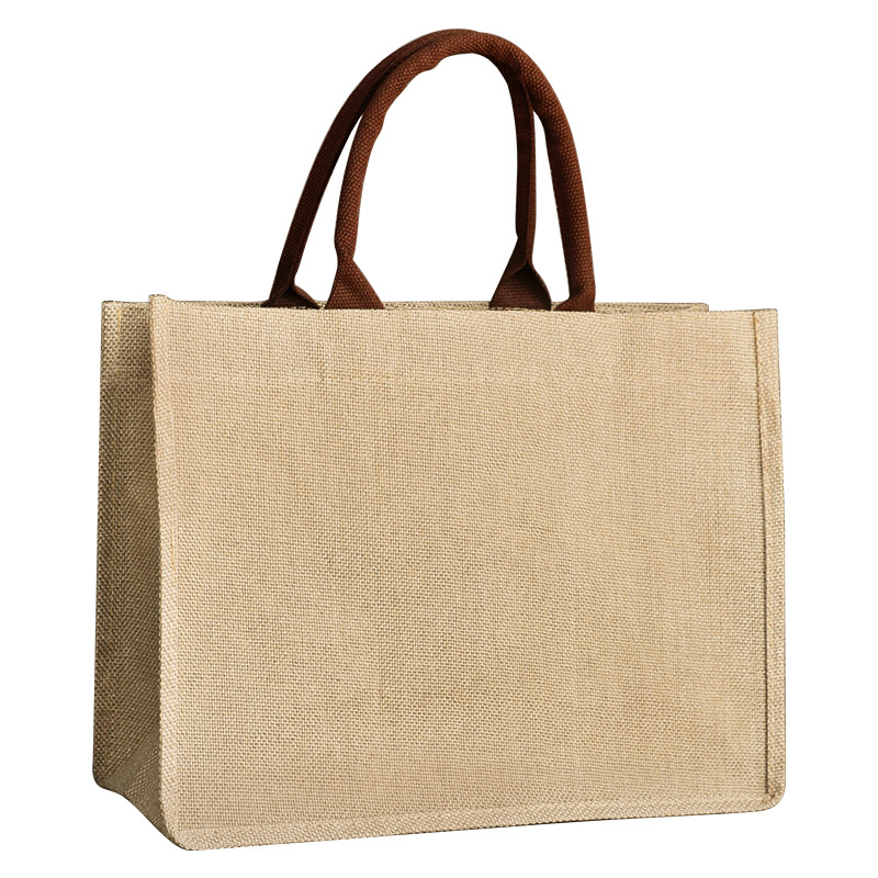 White Canvas Tote Bag - Wholesale Promotion Cotton Jute Grocery Shopping Burlap Beach Tote Bag With Handle – Fei Fei