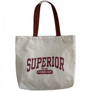 Wholesale eco friendly clear canvas totebag blank organic cotton tote bags with custom printed logo