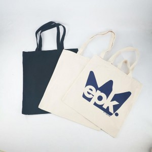 natural cotton bag organic canvas tote custom logo shopping bag