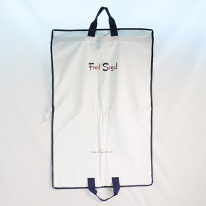natural cotton personalised garment bag for dress shirt