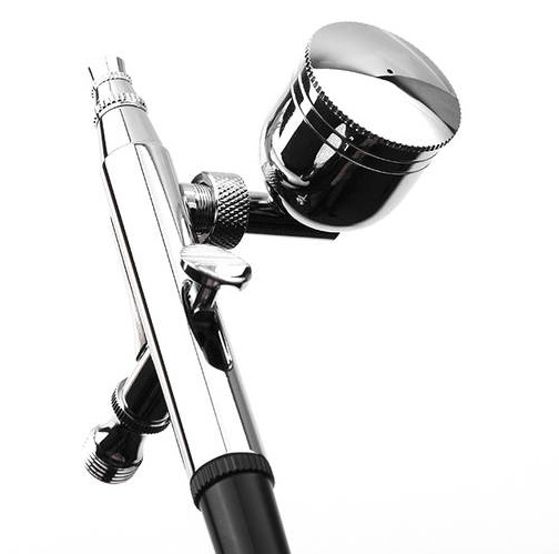 Double Action Airbrush Basic Kit BT-134, 0.3 mm Nozzle Gravity & Siphon Feed with a 1/5 oz Cup&a 4/5 oz Bottle airbrush