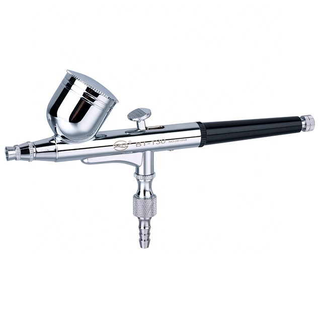 BT-130 Double Action Gravity Feed  Spray Gun Used For Body Painting / Cake Decorating / Nail Painting Airbrush Gun