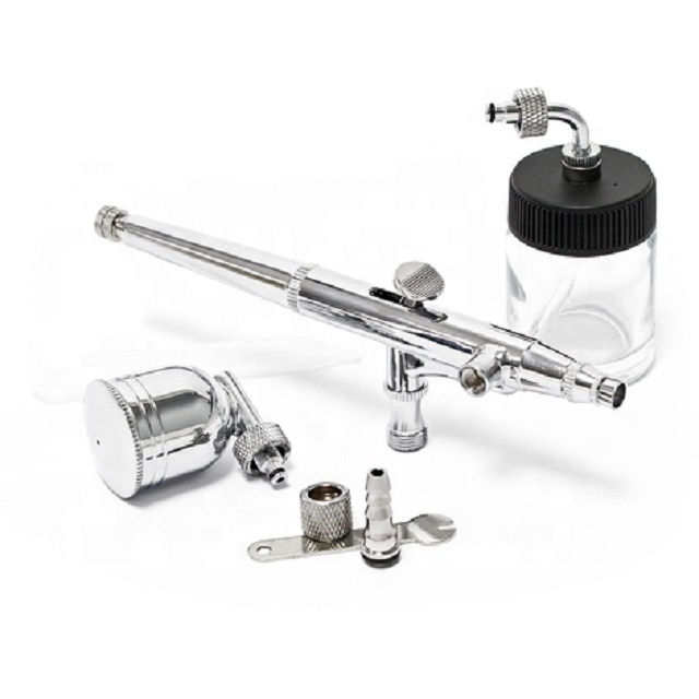 2Option For Cup BT-134 Double Action With Glass Bottle Used For Body Painting /Nail Painting /Airbrush Cake Decorating