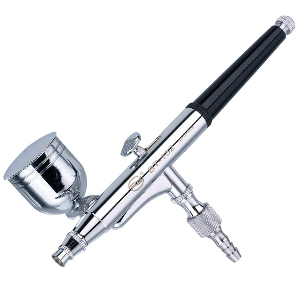 BT-132 Double Action Gravity Feed  Spraying Gun Used For Body Painting / Cake Decorating / Nail Painting Airbrush