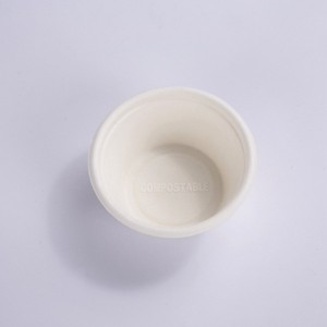 ZZ Eco Products Biodegradable 2 OZ Sugarcane Bagasse Souffle Cup/Portion Cup-2000/Case