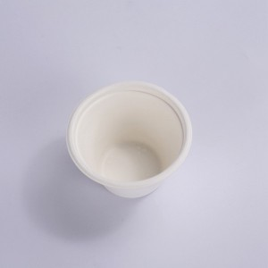 ZZ Eco Products Biodegradable 4 OZ Sugarcane Bagasse Souffle Cup/Portion Cup-2000/Case