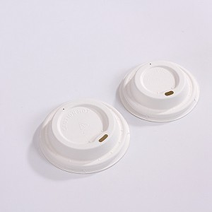 2019 wholesale price Sugarcane Waste Cups - ZZ Eco Products Sugarcane Bagasse Coffee Cup Lid-Fits 8, 12 and 16 oz – 1000 count box – ZHONGSHENG