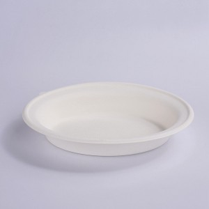 ZZ Eco Products Compostable Tableware Eco-Friendly 32 OZ Oval Bowl Salad Bowl, 2/125