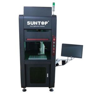 Floor type full enclosed fiber laser marking machine
