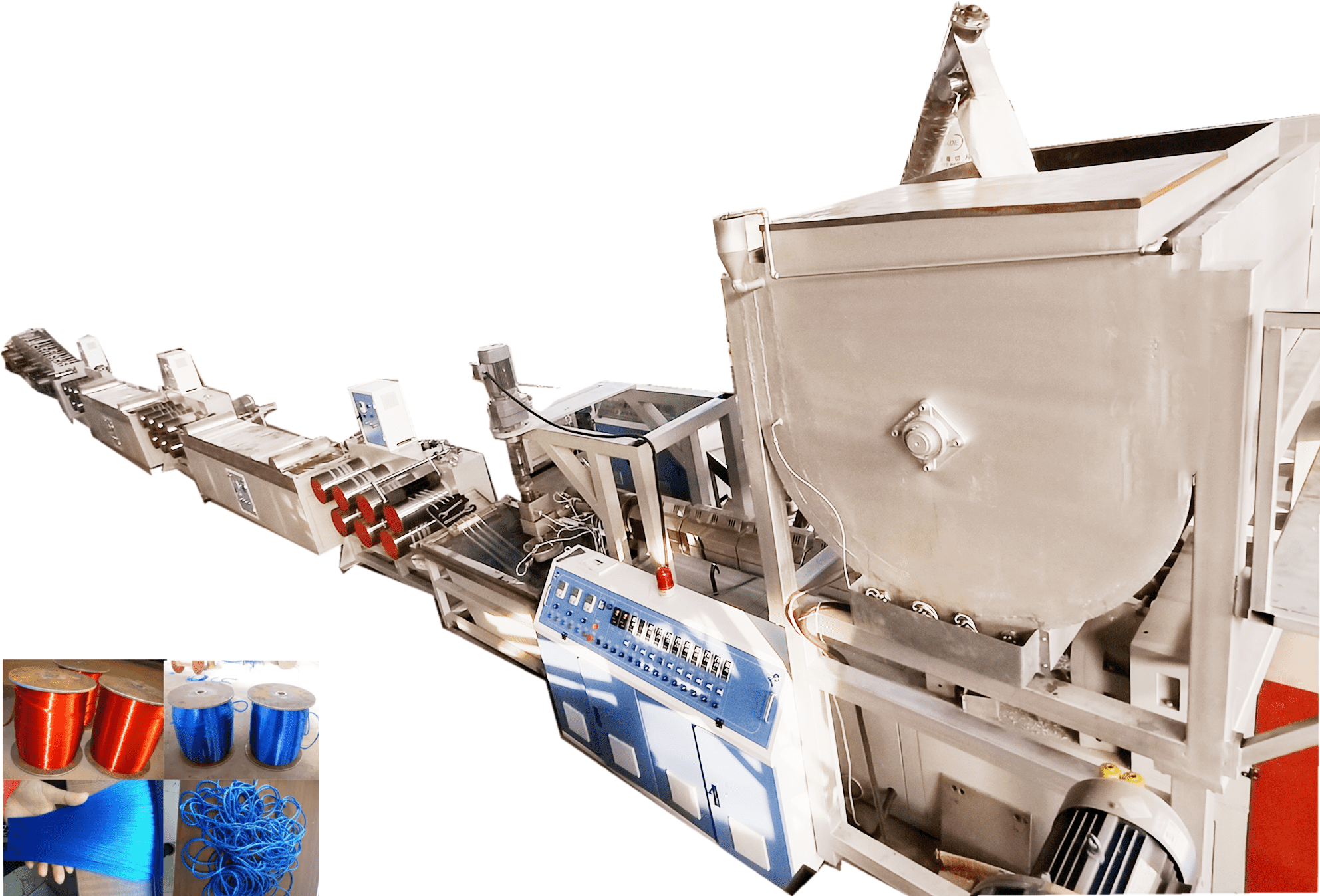 PET rope filament making machine
