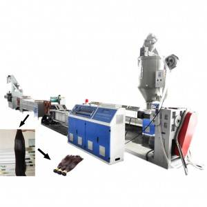 Plastic synthetic hair filament extruding machine