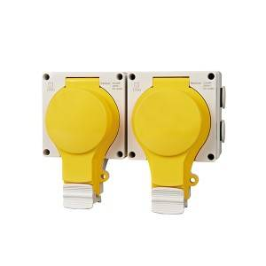 New IP66 Series 2 Gang Socket Empty Shell ADLN66-2ES