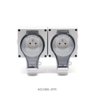 IP66 New Series Weather Proof With Transparen Cover French Socket