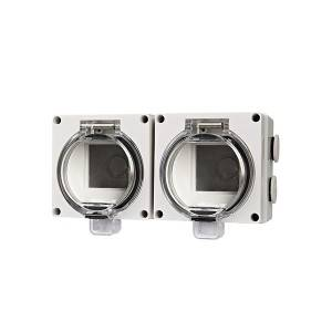 Factory best selling Socket On The Wall - IP66 Series 2 Modules Empty Enclosure ADL66-2ES – Feilifu