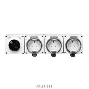 IP66 Series Waterproof Surface Switch + BS Socket