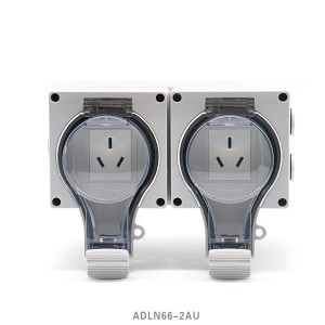 China Manufacturer for Floor Duplex Outlet - IP66 New Series Waterproof Socket 2 Australis Socket – Feilifu