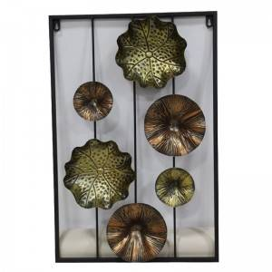 Metal Flower Wall Art Stickers Home Decor
