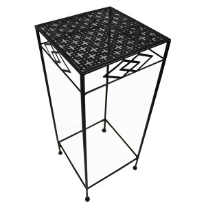 Nordic iron flower stand balcony simple plant pot floor metal flower stand metal product