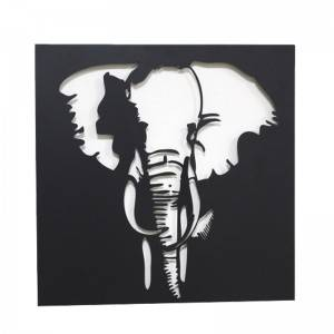 Cute Animal metal Wall Art Kid's Room Decors Framed Picture Modern Hanging Art