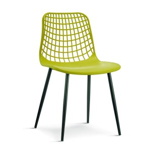 2020 Good Quality Modern Design Dining Chair - Plastic Chair 1691# Mesh Back with 3 Types of Metal Legs  – Forman