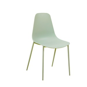 Factory Directly supply China Side Chair Modern Stylish PP Plastic Seat with Metal Legs MID Century Modern Chair for Living Room, Dining Room, Bedroom, Lightweight Kitchen Chairs 1661#