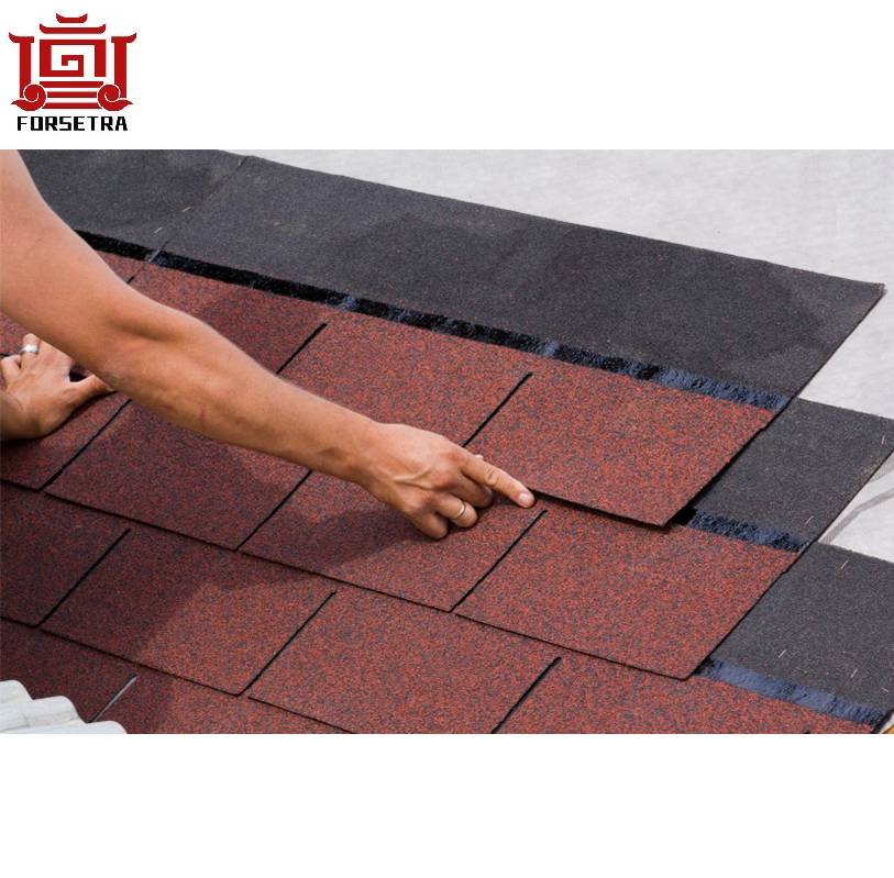 Mosaic design best quality fiberglass Asphalt Shingle roofing tile hot sale for Nepal villa