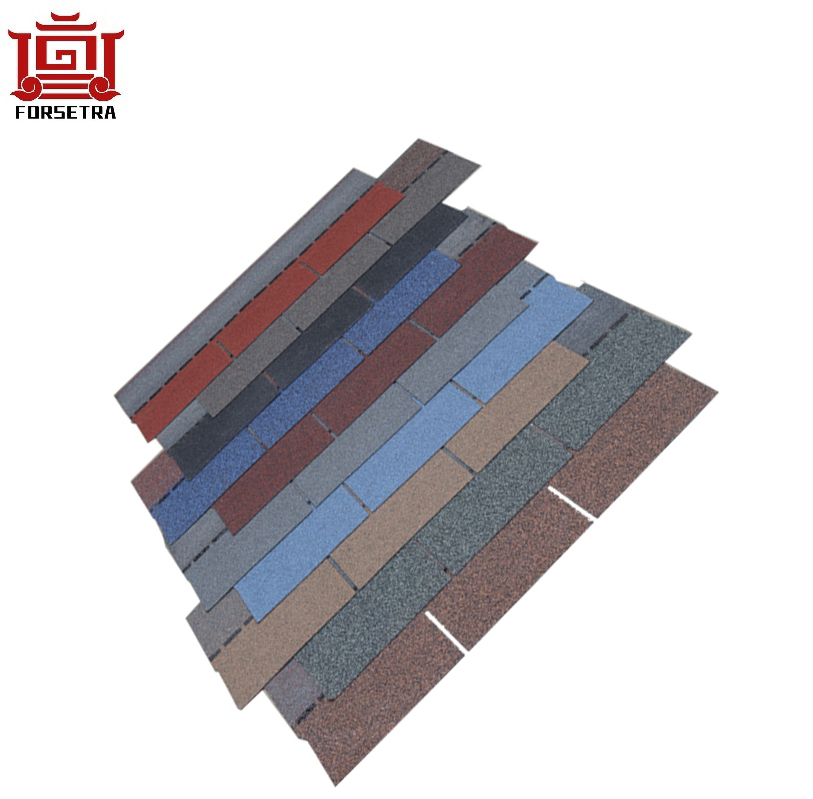 12 Colors Roof Building Materials Flat Style Fiberglass Asphalt Roofing Shingles For Construction