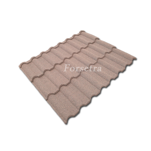 Wind Resistance Waterproofing Building Materials Colorful Stone Metal Roof Tile Factory
