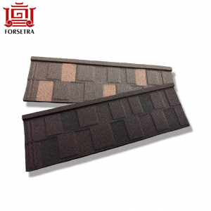 Building Material Colorful Stone Coated Metal Roof Shingles Tiles