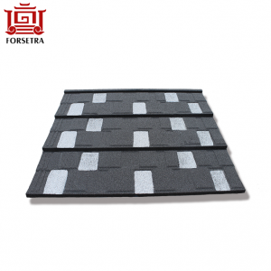 Light Weight Waterproof Outdoor Aluminum-zinc Steel Metal Tiles Roof Shingle Type