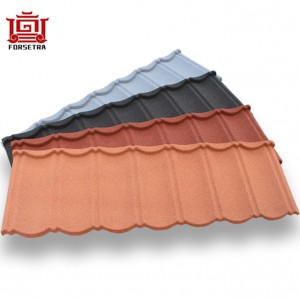 All Types of Light Weighty Eco Systems Weather Friendly 50 Years Warranty Stone Coated Roofing Sheet