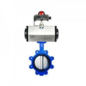 FO1-BV1LT-2P(Lugged type Butterfly Valve–Pneumatic Actuator)
