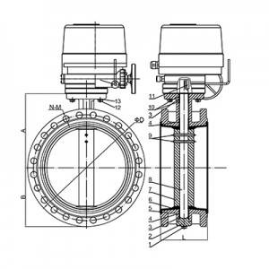FD01-BV1DF-3E(Double flanged Butterfly Valve–Electric actuator)
