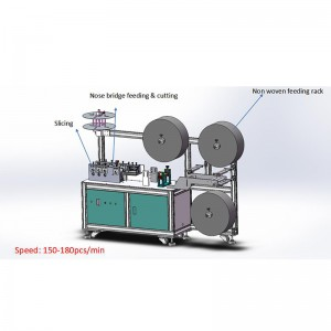 Fully Auto Medical Mask Machine Without Welding Machine