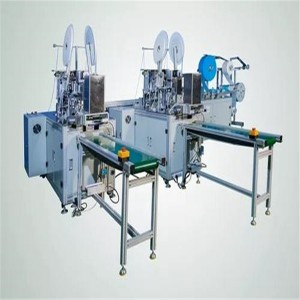 Auto Face Mask Making Machine With Earloop Manual Welding Nose Bridge
