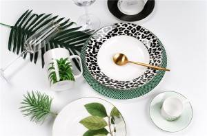 Best popular leaves design dinner set and gift items