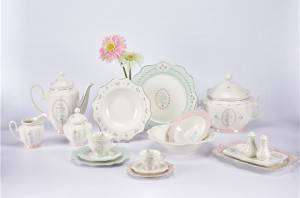 Elisa shape New bone china Elegant Dinner Set