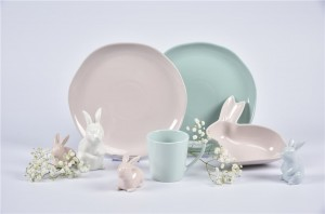 color glaze + hand paint dinner set-coupe shape