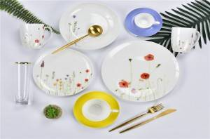 Best Popular Spring Flower design tableware dinner set and gift items