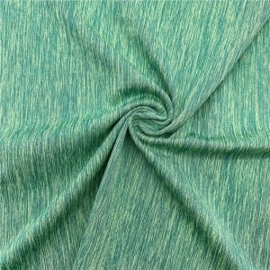 Cationic polyester spandex mélange jersey fabric
