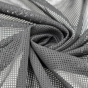 DTY polyester perforated mesh fabric