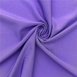 Polyester spandex stretch jersey knit fabric