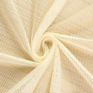 DTY polyester mesh lining fabric with diamond meshes