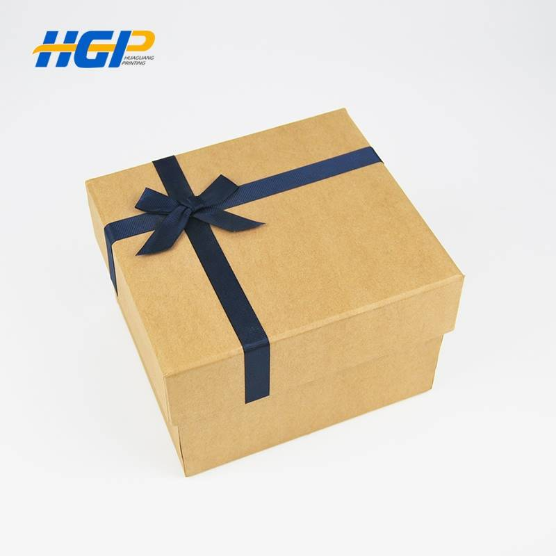 China Wholesale Wine Gift Box Factories - Customized Logo Printed Wholesale Cardboard  Gift Boxes With Ribbon – Huaguang