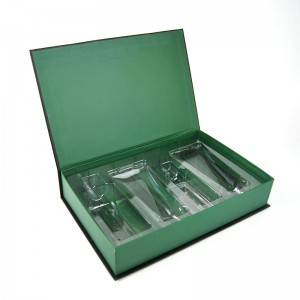 Skin care paper box is insert with PVC book type box