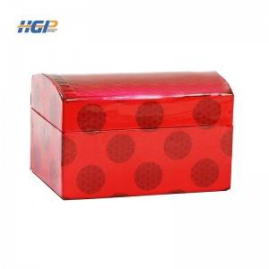 China Wholesale Box Wrapping Manufacturers - Custom logo Handmade Luxury Paper Jewelry Box Organizer with Mirror Drawer Ring Earring Jewellery box – Huaguang